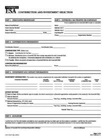 Coverdell ESA IRA Contribution Form