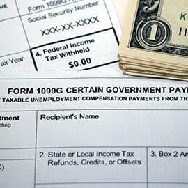 Tax form 1099-G